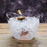 4L Plastic Transparent Garden Ice Bucket Super Large Ice Bucket Beer Champagne Big Ice Bucket Bar Tools