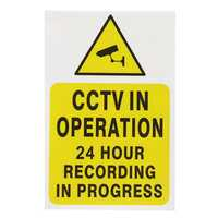 2 Pcs CCTV Security Camera System Warning Sign Sticker Decal Surveillance 200mmx250mm