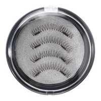 4Pcs Dual Magnetic 3D False Eyelashes Long Natural Eyelashes Extension
