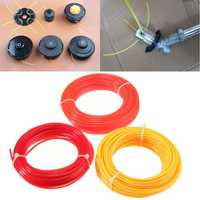 10m x 2mm Lawnmower Strimmer Line Nylon Cord Wire Round String Brushcutter Grass Trimmer