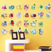 DIY Children's Nursery School Background Alphabet Wall Stickers
