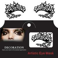 Halloween Squishy Eye Liner Sticker Lace Fretwork Papercut Face Tattoo Temporary Costume Party