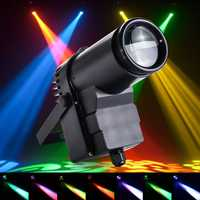 30W RGBW LED DMX512 Stage Light Pinspot Beam Spotlight 6CH For DJ DISCO Party KTV
