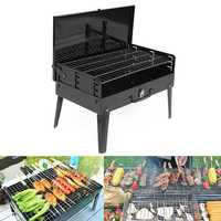 43x26.5x21cm Outdoor Folding Garden Charcoal Barbeque Patio Portable Large Cooking Grill