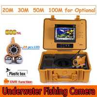 CR110-7A Under Water Fishing Camera System 7 inch Monitor 12pcs White LED Double Rod Camera with DVR