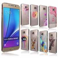 Soft Gel TPU Flowers Deer Pattern Back Cover Case for Samsung Galaxy Note 5