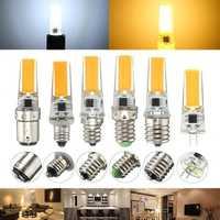 Dimmable E11 E12 E14 E17 G8 BA15D 2.5W LED COB Silicone Light Lamp Bulb 220V