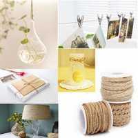 5M Natural Hessian Rope Burlap Ribbon DIY Craft Vintage Wedding Party Home Decor