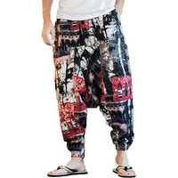 INCERUN Men Ethnic Printing Loose Casual Harem Trousers