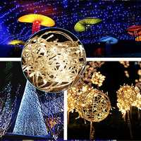 KCASA Led Lights String Lights Flashing Party Christmas Decorations Light String 10Meters 100Lights