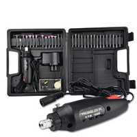 60Pcs Electric Polishing Grinder Rotary Tool Kit 12V Power Drill Machine & Accessories