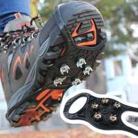 Outdoor 5 Teeth 8 Type Crampons Antiskid Non-slip Shoes Cover Snow Urban Nail Tools