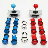 Arcade DIY Set Kit Video Games Two Joystick Twelve Happ Push Buttons Two Start Button