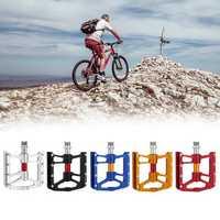 BIKIGHTAluminum Alloy Bike Bicycle Pedals Anti-slip 4 Sealed Bearings Cycling Pedals For MTb Road Bike
