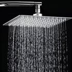 Meilleurs prix 12 Inch 2mm Thin Pressurized Rotatable Rainfall Shower Head Square Stainless Steel Top Spray Head