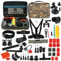 PULUZ PKT27 53 in 1 Accessories Combo Kit Mount Screw with Storage Case for Action Sportscamera