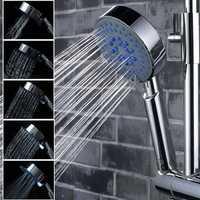 5 Mode Multifunction Chrome Adjustable Water Shower Head