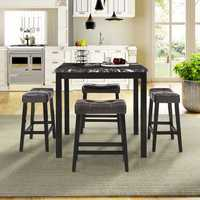 Folding table 5-Piece Counter-Height Dining Set Dining Room 4 Peoples Dining Table Kitchen Room Breakfast Furniture