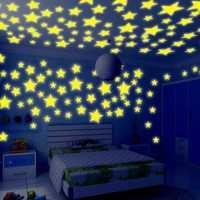 Honana DX-010 100PCS 3CM Fluorescent Glow Star Wall Sticker Decor Sticker