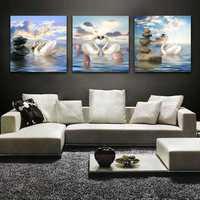 40x40cm 5D DIY Swans Lover Diamond Painting Resin Full Rhinestone Animal Home Decoration Cross Stitch Kit