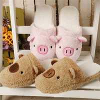 New Winter Lover Cartoon Pig Keep Warm Plush Cotton Home Indoor Lovely Slipper