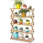 Promotion 2/3/4/5 Tier Foldable Flower Pot Plant Stand Planter Display Rack Shelf Organizer Garden Balcony