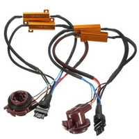 2pcs 50W 3157 Car Turn Signal Light Resistance Decoder Hyper Flash Fix Wiring Adapter