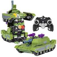 MZ 1/14 2.4G Rc Car Deformation Battle Robot Tank 360 Degree Rotated Dancing Toys