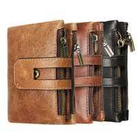 Outdoor Travel Men Slim RFID Leather Bifold Wallet Card Holder Purse Billfold Pocket