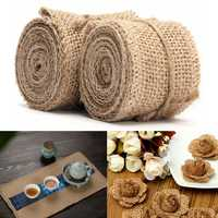 2M Vintage Jute Hessian Burlap Ribbon Wedding Party Gift Decoration 40 60mm