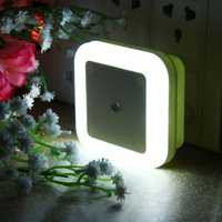 AC110-220V 0.5W Plug-in LED Night Light Lamp with Light Sensor Warm White US Plug / EU Plug