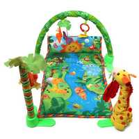 Rainforest Musical Baby Infant Activity Gym Floor Crawl Play Mat Bedding Butterfly Grasp Kick Toys