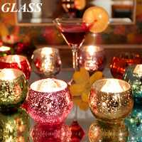 Colorful Glass Candle Stick Candle Holder Candelabra Romantic Home Wedding Decor Gift