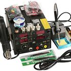 Meilleurs prix Saike 110V AC 909D+ Rework Soldering Station Hot Heat Air Nozzle DC USB Power Supply US Plug