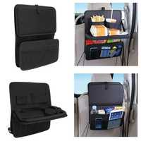 Auto Car Seat Back Organizer Foldable Waterproof Multi Pocket Travel Storage Bag