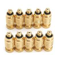10Pcs 4mm Male Threaded Brass Misting Fogging Nozzle Spray Sprinkler Head Irrigation Cooling
