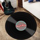 Meilleur prix Vinyl Records Innovative Carpet Round Floor Mat Europe Fashion Retro Black Carpet Record Pattern Rug