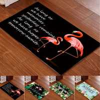40x60cm Washable Anti-slip Flamingo Doormat Carpet Floor Rug Bath Mat Indoor Rug
