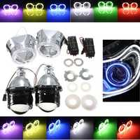 2.5inch Bi-Xenon Hi/Lo HID Projector Kit Conversion Lens Angel Eye CCFL Halo