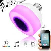 E27 5W LED Wireless bluetooth RGB Music Play Speaker Stage Light Bulb AC100-240V