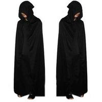 Adult Halloween Party Cosplay Clothing Long Black Hooded Cloak Death Big Cloak Cosplay Devil Cloak