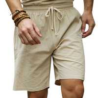 Large Size S-4XL Chinese Wind Cotton Linen Knee-length Shorts Summer Drawstring Casual Shorts