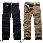Acheter Mens Thick Outdoor Multi Pockets Polar Fleece Lined Cotton Cargo Pants