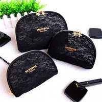 Women Lace Cosmetic Bag Casual Travel Clutch Bag