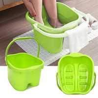 Rolling Massage Sturdy Plastic Bucket Foot Spa Bath Massager