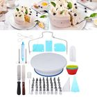 Meilleurs prix 73Pcs Rotating Turntable Cake Decorating Tools Baking Mold Flower Icing Piping Nozzle
