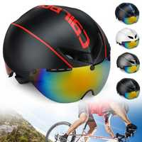 CAIRBULL AERO-R1 Road Cycling Bike Helmet Racing Bicycle Safety Goggles Helmet Magnetic Sunglasses