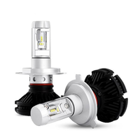 Pair X3 Car LED Headlights Bulbs H1 H3 H4 H7 H8/9/11 9005/9006 880 881 DIY Color Temp 50W 6000LM