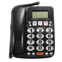 KX-2035CID 2-line Corded Telephone with Speakerphone Speed Dial Corded Phone Incoming Call Display with Caller ID for Home Office