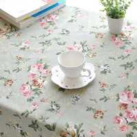 Rectangle Pastoral Style Thicken Cotton Linen Tablecloth Tableware Mat Desk Cover Home Decor